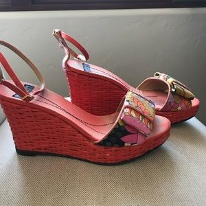 Kate Spade Orange Ribbon Wedges